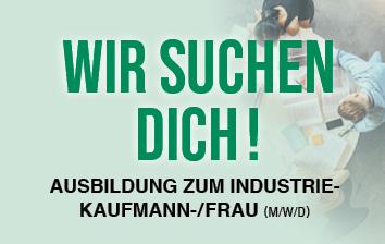 Ausbildung, Azubi, Industriekaufmann, Industriekauffrau, 2021, Wir suchen Dich!