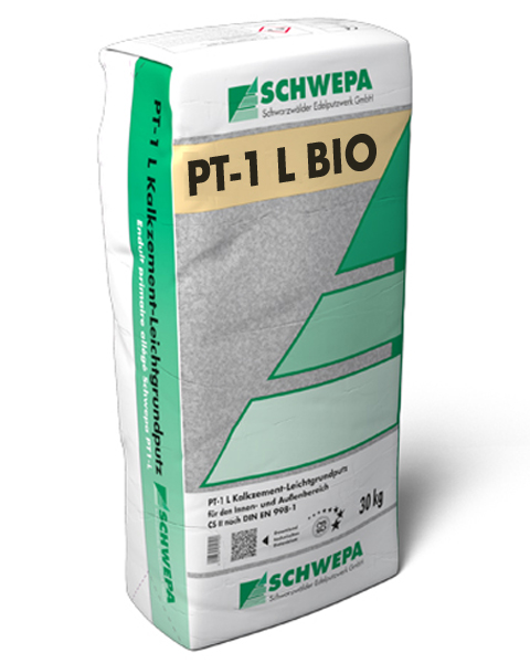 PT-1 L Bio -weiß- Kalkzement-Leichtgrundputz Typ I